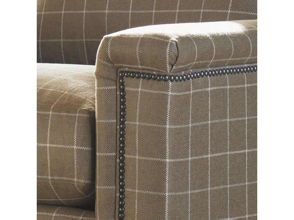 Detail of Upholstered Track Arm with Nailhead Trim
