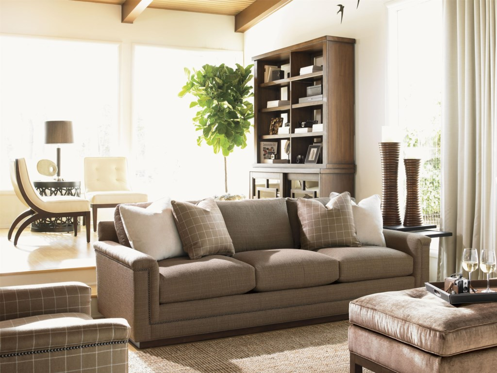 Shown with Balance Sofa, Tribeca Nesting Tables, Synergy Stacking Base and Hutch and Westin Cocktail Ottoman