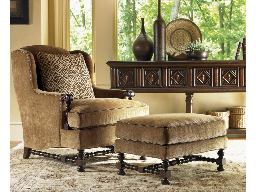 Shown with Bradbury Ottoman and Eagle Sideboard
