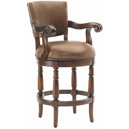 Lexington Fieldale Lodge Pinnacle Leather Upholstered Counter Height Stool