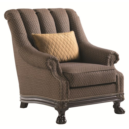 Lexington Florentino Cadorna Chair with Ball-and-Claw Feet and Channeled Back