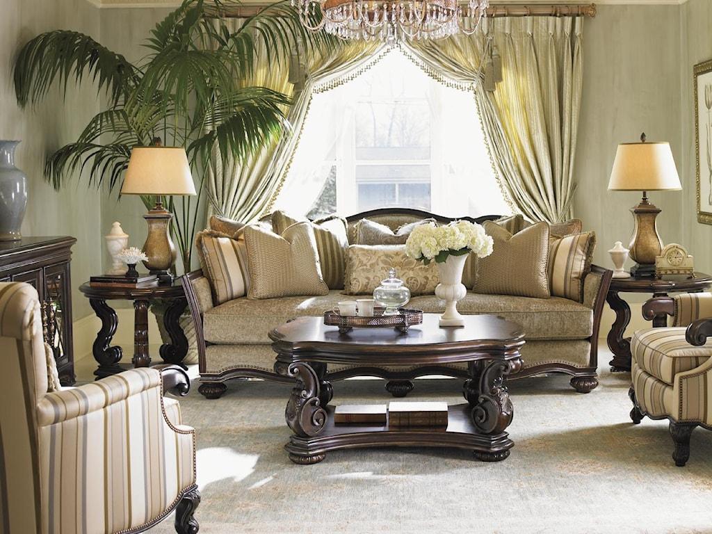 Shown with Maranello Lamp Table, Ravenna Sofa, and Veneto Cocktail Table