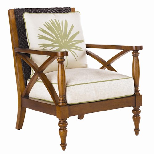 Tommy Bahama Home Island Estate Loose Back Avalon Wicker Chair