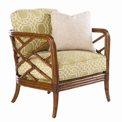 Tommy Bahama Home Island Estate Loose Back Lattice Palm Lounge Chair