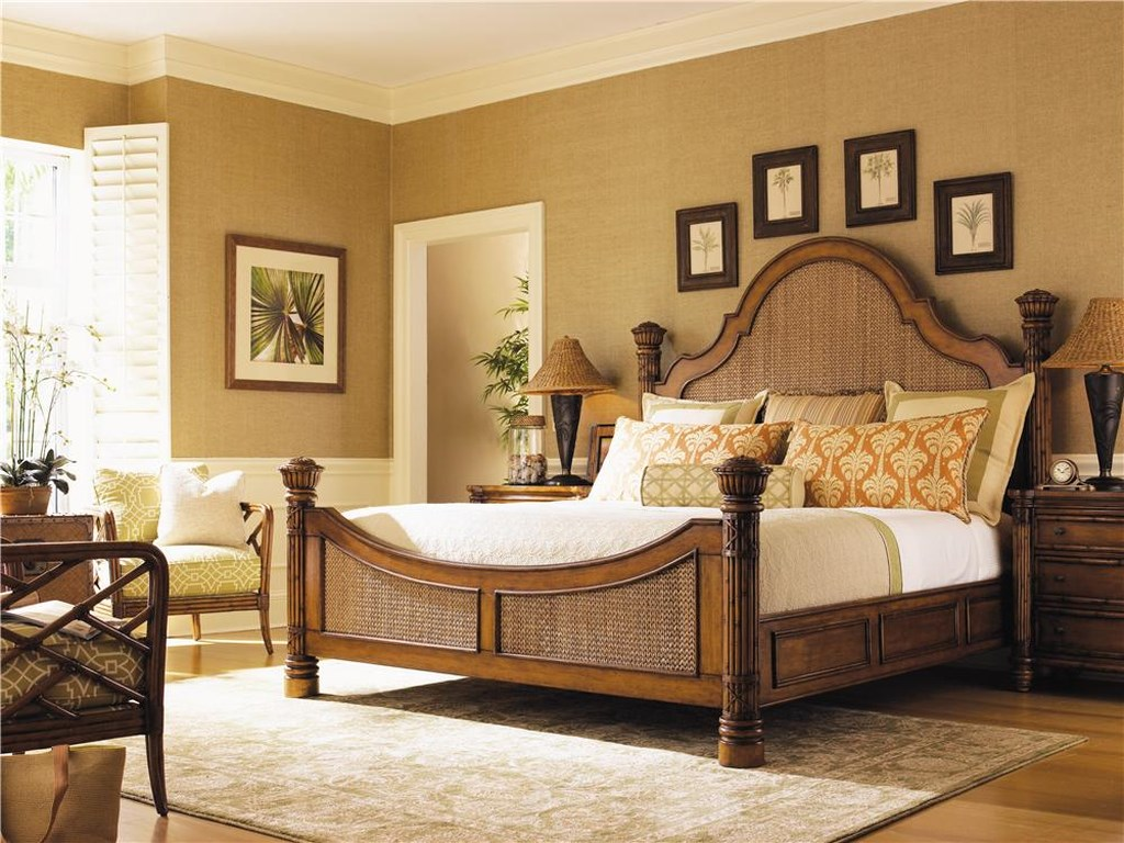 Tommy Bahama Home Island EstateQueen Round Hill Bed