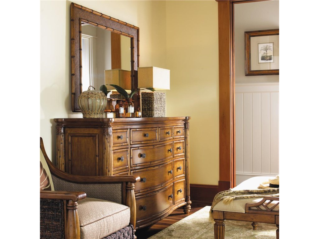 Tommy Bahama Home Island EstateBarbados Triple Dresser & Palm Grove Mirror