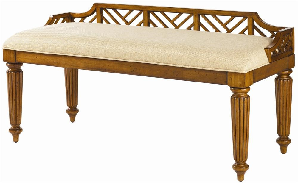 <b>Customizable</b> Upholstered Plantain Bed Bench