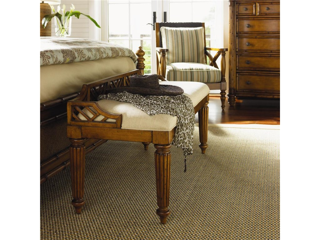 Tommy Bahama Home Island Estate<b>Quick Ship</b> Plantain Bed Bench