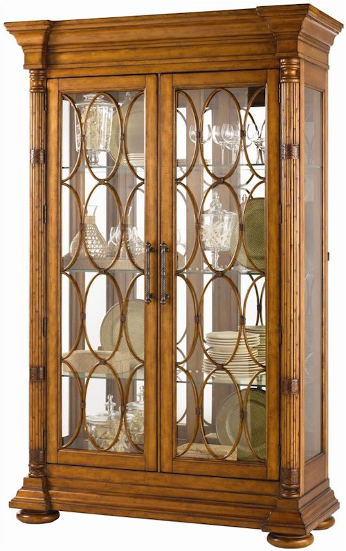 Tommy Bahama Home Island Estate Mariana Display Cabinet with Lighted Interior