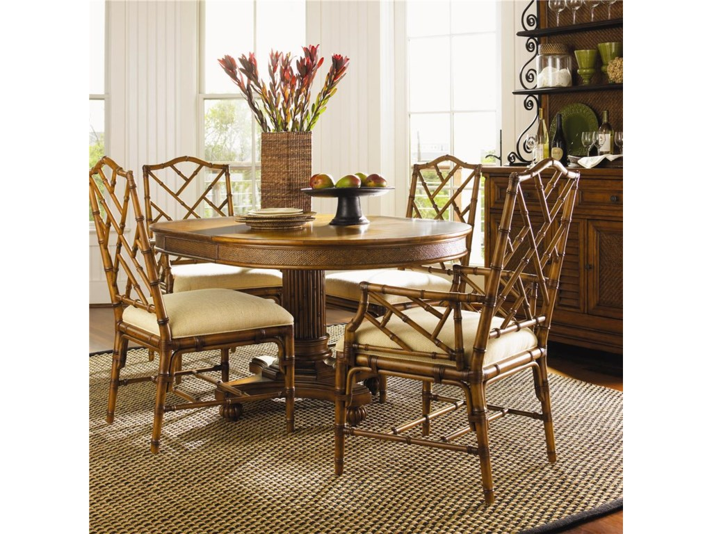 tommy bahama home island estate 5 piece dining cayman table ceylon