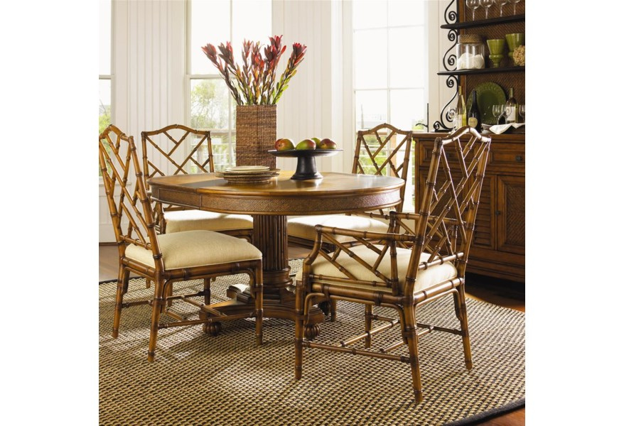 Tommy Bahama Home Island Estate 5 Piece Dining Cayman Table ...