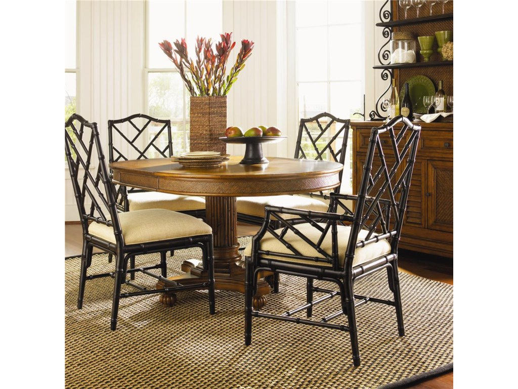 Shown with Chairs in Noche Finish - Hutch Shown in Image is No Longer Available by the Manufacturer