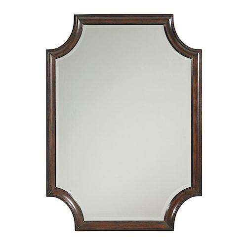 Lexington Kensington Place Transitional Catalina Rectangular Mirror with Scalloped Edges