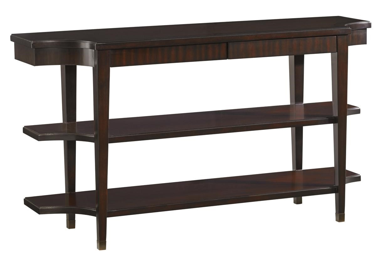 Transitional Blakeney Two-Shelf Console Table with Two Drawers