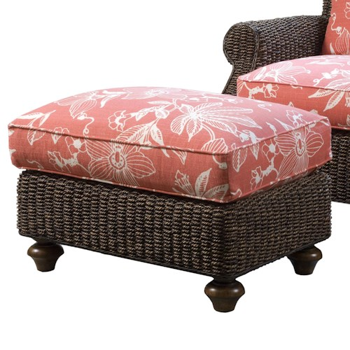 Lexington Lexington Upholstery Nick Ottoman - Semi-Attached Top High Water Hyacinth Ottoman