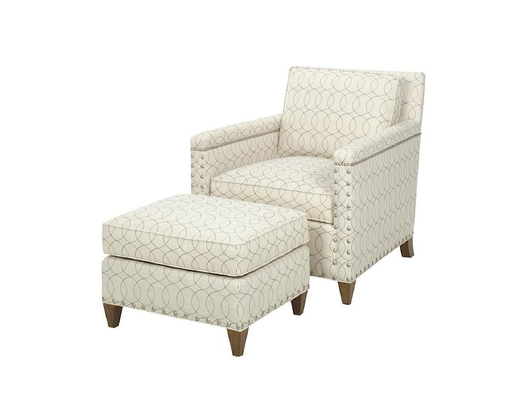 Lexington Lexington UpholsteryChase Chair and Ottoman