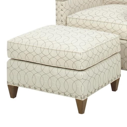 Lexington Lexington Upholstery Contemporary Chase Ottoman with Nailhead Studs