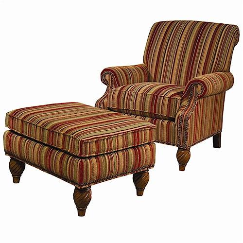 Lexington Lexington Upholstery Wallace Upholstered Chair and Ottoman