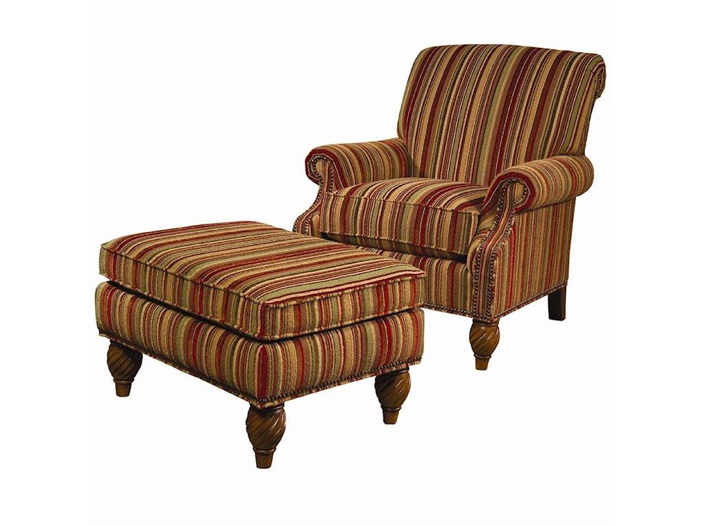 Lexington Lexington UpholsteryWallace Chair and Ottoman