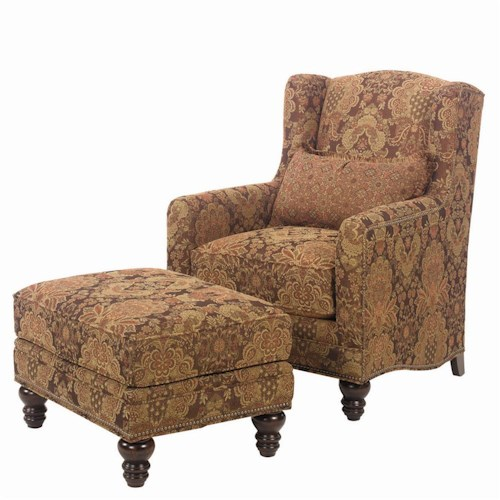 Lexington Lexington Upholstery Micah Upholstered Chair and Ottoman Set