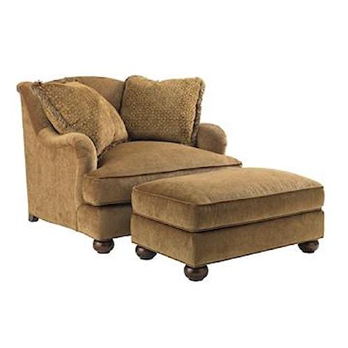 Lexington Lexington Upholstery Laurel Canyon Chair & a Half with Matching Laurel Canyon Ottoman