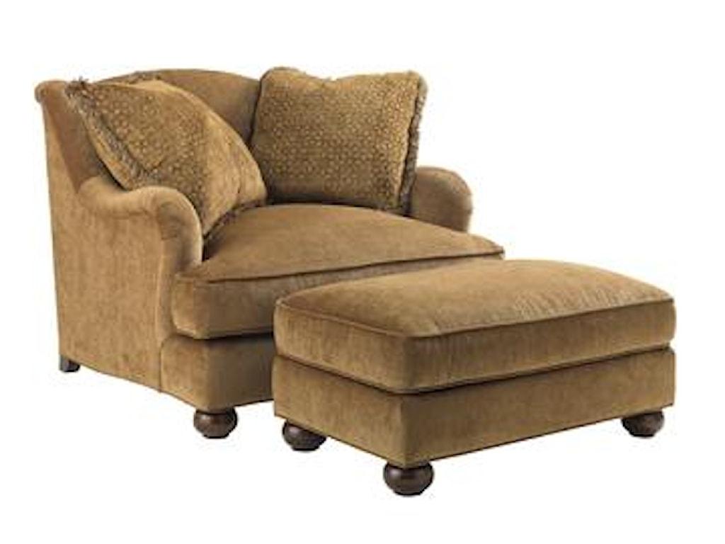 Lexington Lexington UpholsteryLaurel Canyon Chair and Matching Ottoman