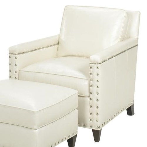 Lexington Lexington Leather Contemporary Chase Chair with Ornamental Nailheads
