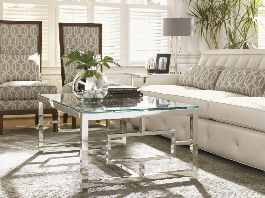 Shown with Taylor Lamp Table, Audrey Leather Sofa and Willow Chairs