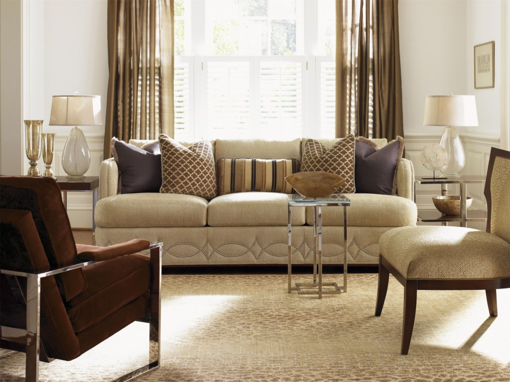 Shown with Stanwych Glass Top Accent Table, Gigi Chair, Elizabeth Sofa and Bacall Lamp Table