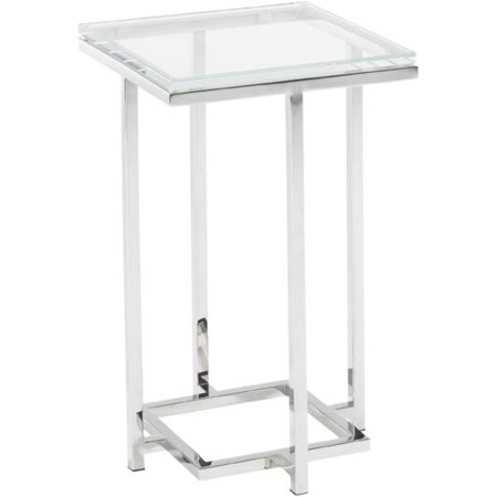 Stanwyck Glass Top Accent Table