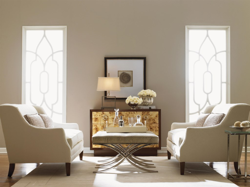Shown with Garland Dresser, Sofia Love Seats and Marilyn Ottoman
