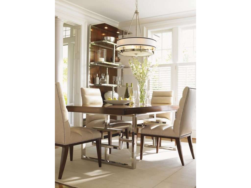 Shown with Stuart Leather Side Chairs and Monroe Dining Table