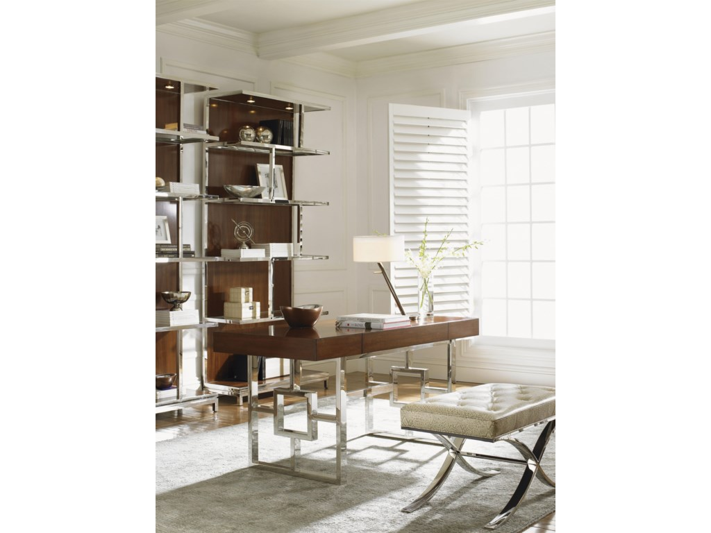 Shown with Rogers Writing Desk and Marilyn Leather Ottoman
