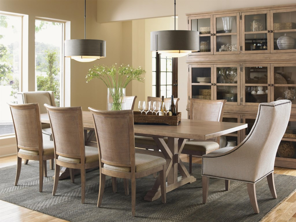 Shown with Los Altos Side Chairs, Walnut Creek Dining Table and Sausalito Glass Door Stacking Unit