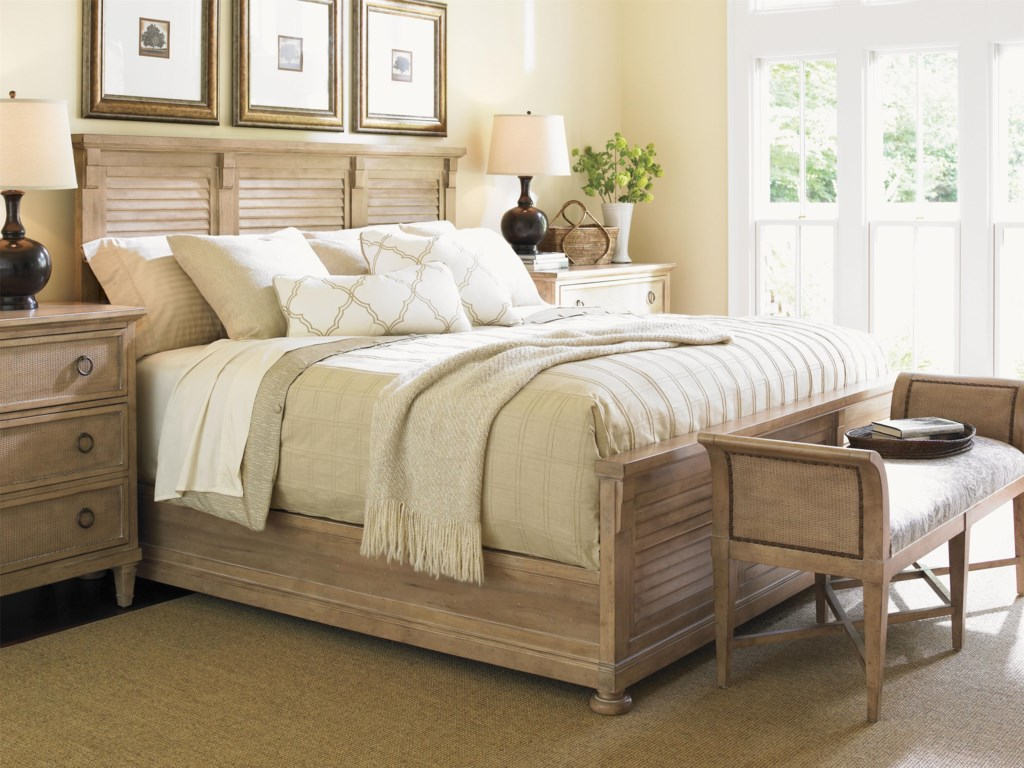 Shown with Morro Bay Dressers and Jade Cove Bench