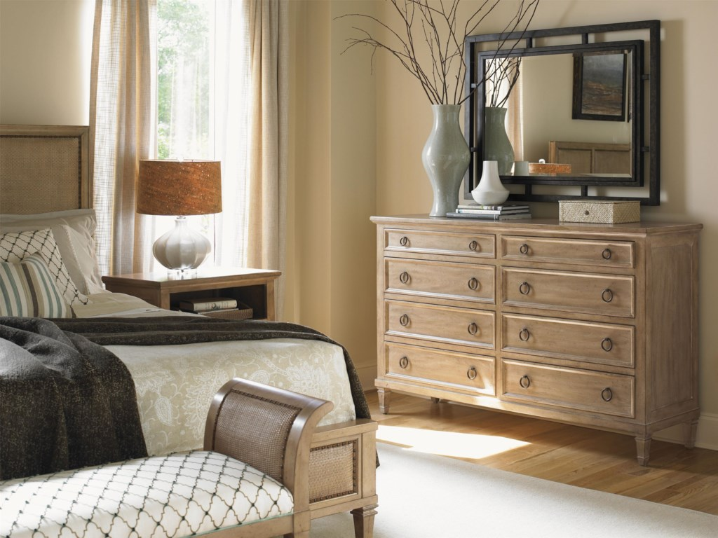 Shown with Hollister Dresser, Jade Cove Bench and Berkeley Nightstand