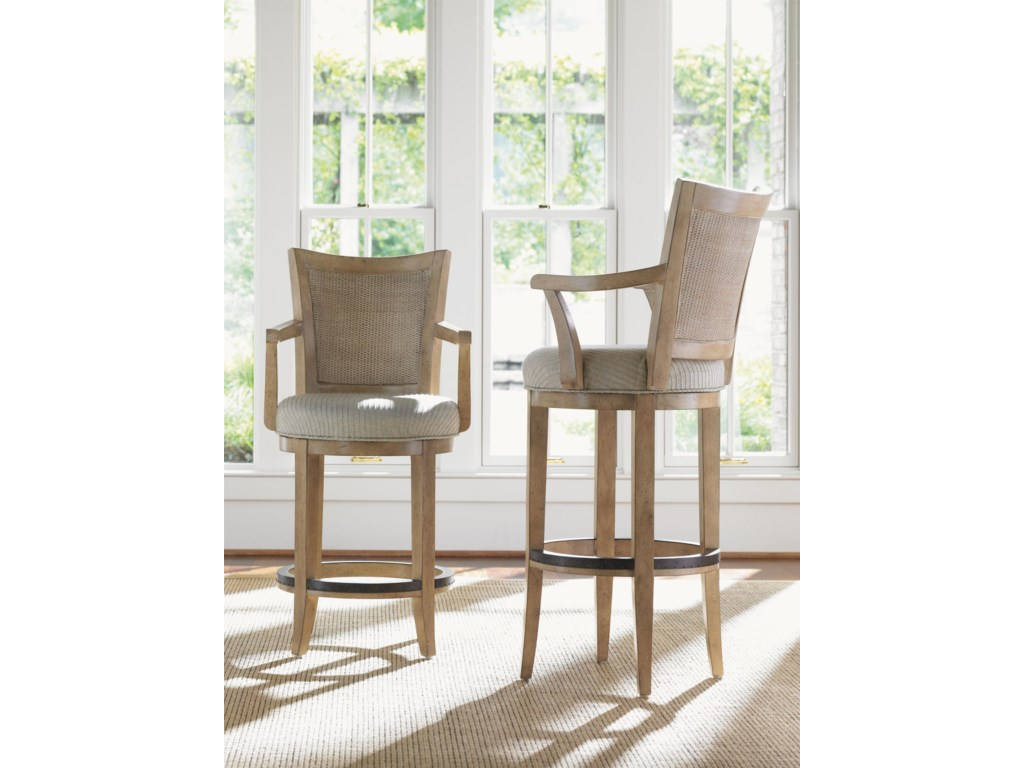 Shown with the Carmel Swivel Bar Stool
