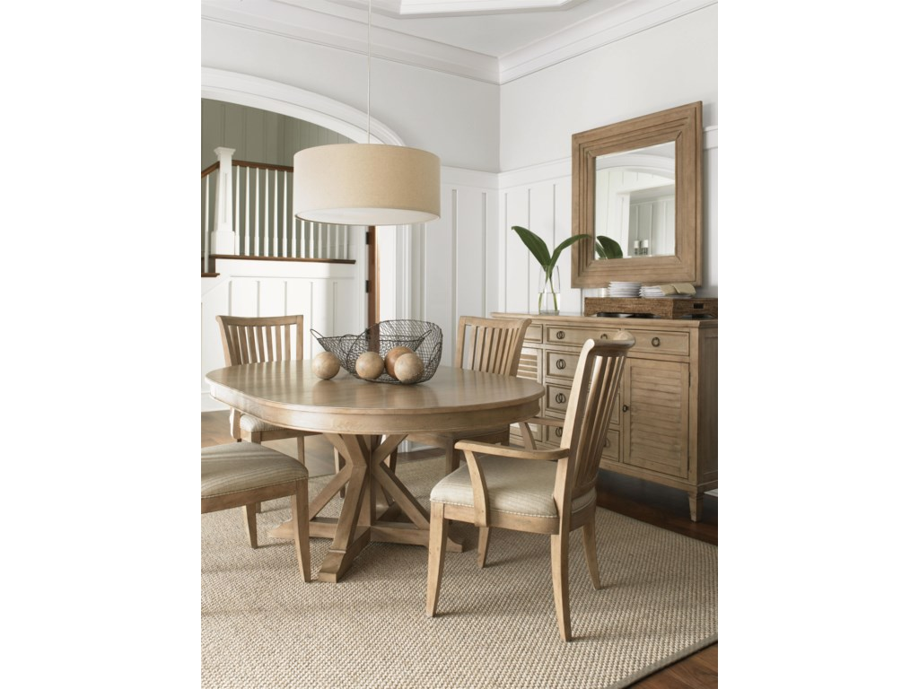 Shown with the Spyglass Mirror,San Marcos Dining Table and the Alameda Arm and Side Chairs