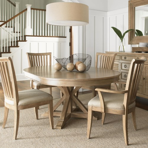Lexington Monterey Sands Five-Piece San Marcos Dining Table and Alameda Chair Set