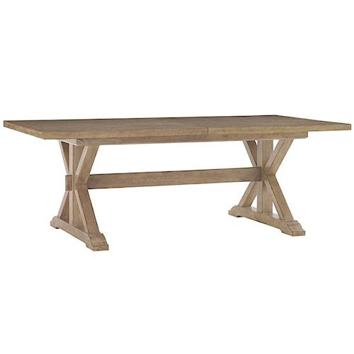 Lexington Monterey Sands Walnut Creek Trestle Dining Table
