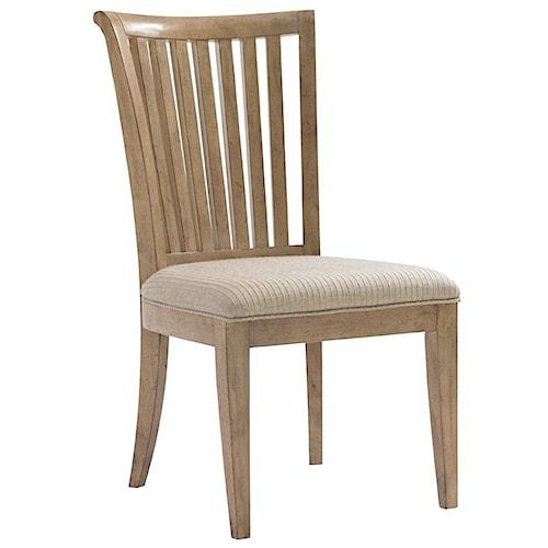 Lexington Monterey Sands <b>Customizable</b> Alameda Slat Back Side Chair