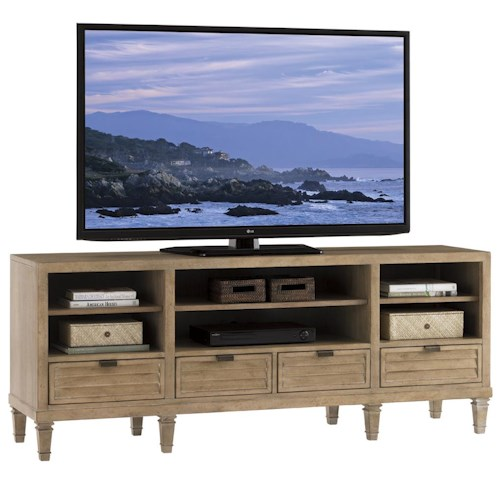 Lexington Monterey Sands Spanish Bay Entertainment Console with Four Drawers
