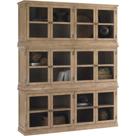 Sausalito Glass Door Stacked Curio Cabinet