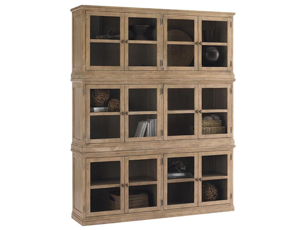 Lexington Monterey SandsSausalito Glass Door Stacked Curio Cabinet