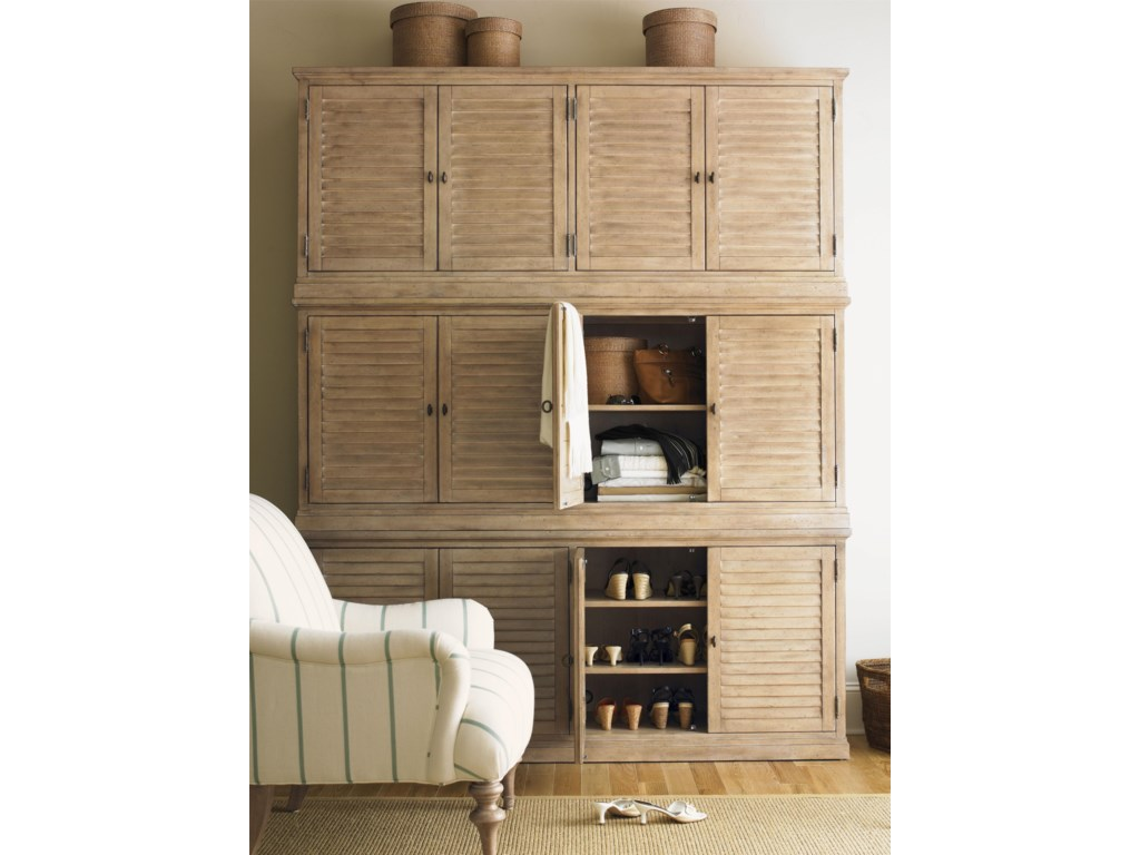 Lexington Monterey SandsPalo Alto Louvered Door Stacking Bookcase