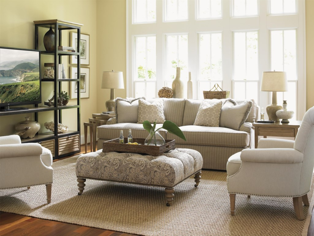 Shown with Camino Real Media Towers & Shelves, Colton Hall Sofa and Victoria Cocktail Ottoman, Stillwater Chair, Fair Oaks Lamp Table and Cupertino Triangular Nesting Tables