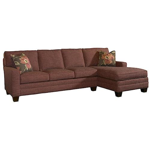 Lexington Personal Design Series Customizable Upholstered Bennett Sectional Sofa