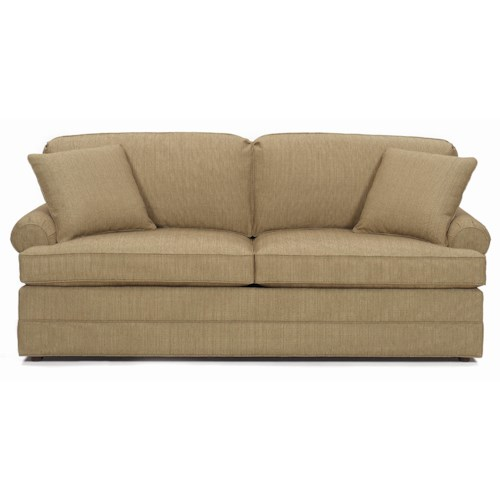 Lexington Personal Design Series Customizable McConnell Sofa with Sock Arms and Upholstered Base