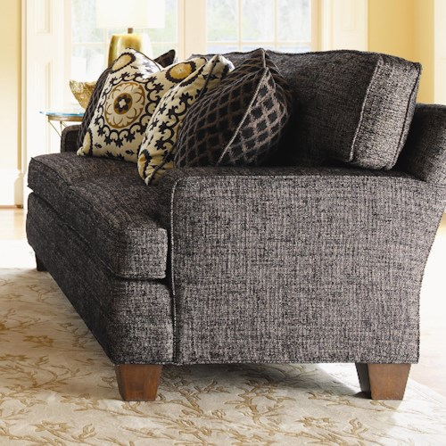 Lexington Personal Design Series Customizable McConnell Sofa with Track Arms and Wood Feet