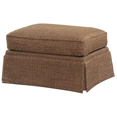 Lexington Personal Design Series <b>Customizable</b> Norwood Traditional Ottoman with Kick Style Skirt